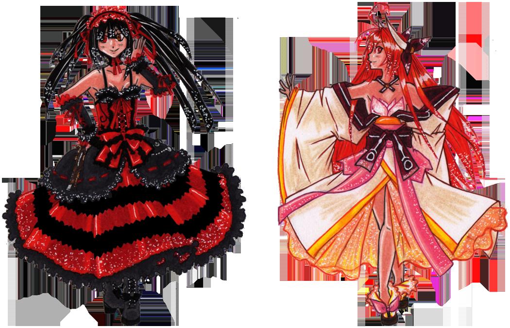 Kurumi and Kotori by suzux