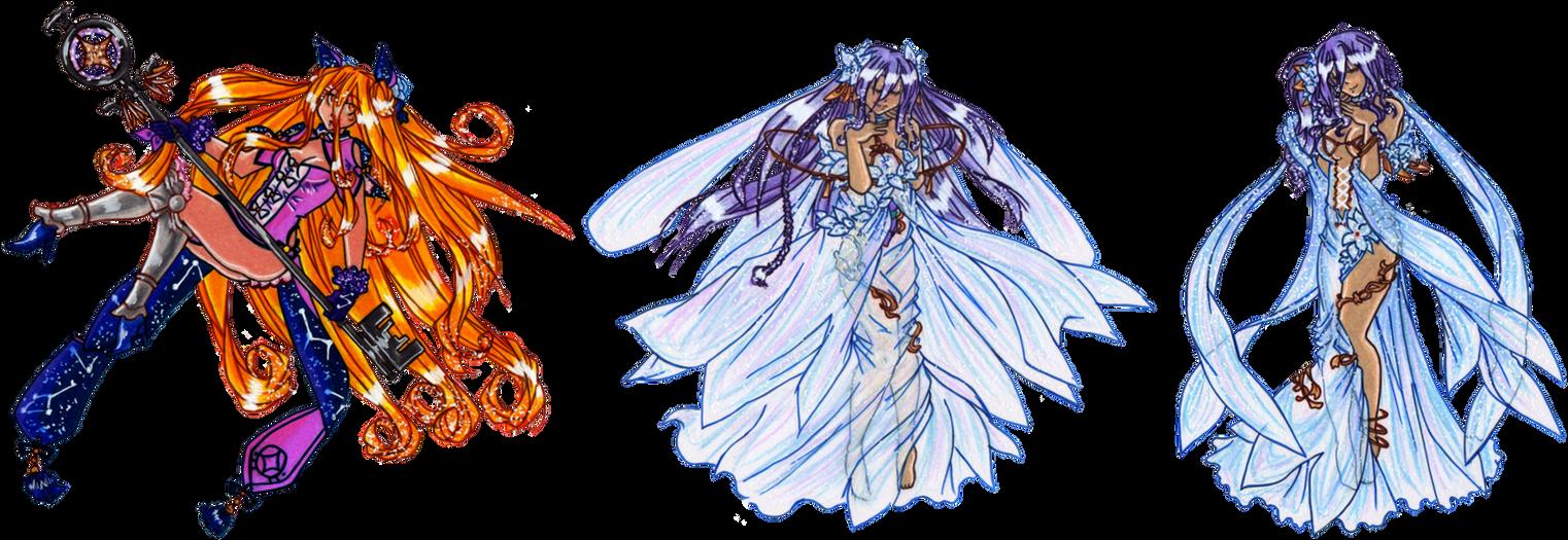 Mukuro, Mio, and Reine by suzux