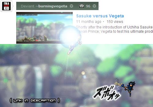 Sasuke versus Vegeta by burningvegeta