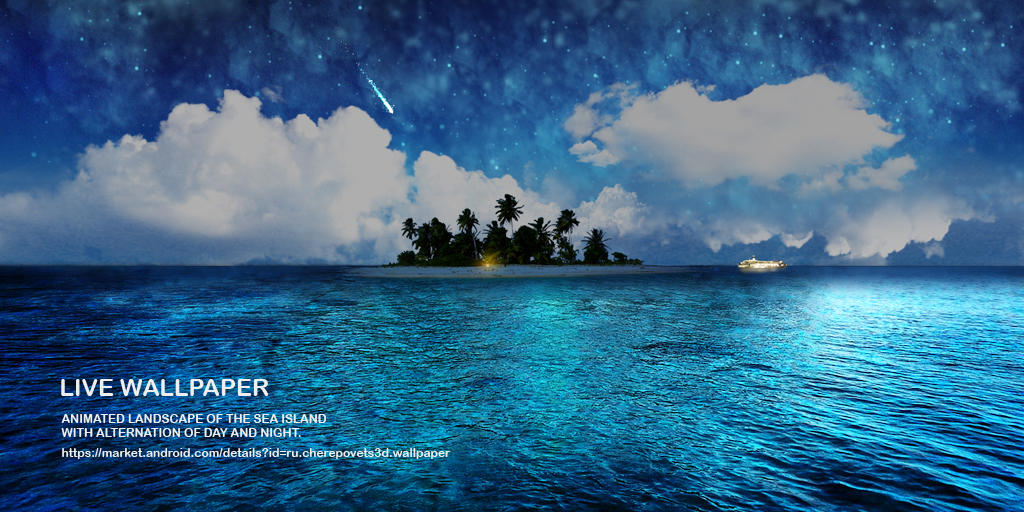 Android Live Wallpaper Tablet Island In The Sea By Atonik