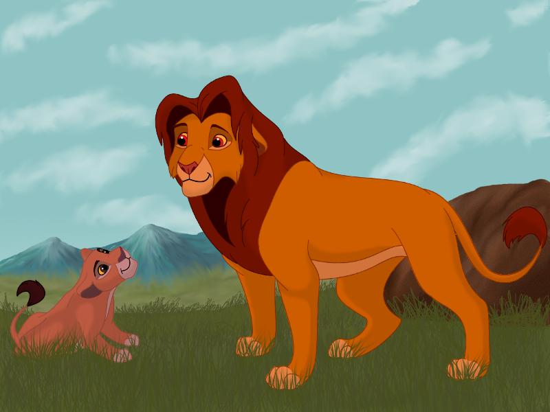 Simba and Kiara cub by Kenisya on DeviantArt
