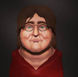 Gabe Newell Bust - Zbrush by pluuck
