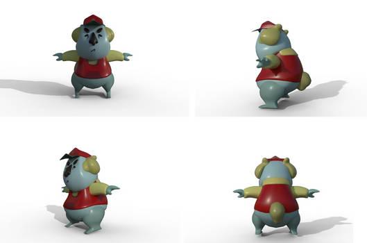 3D Model - Game Ready - Panda by pluuck