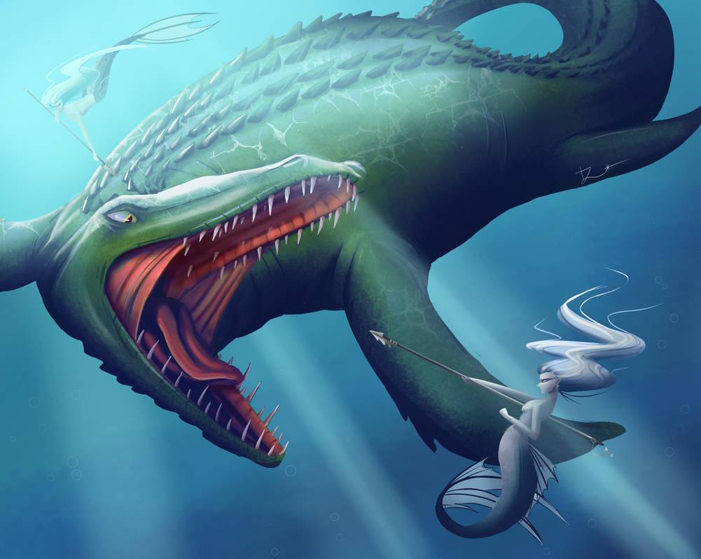 Mermaid Vs Dinosaur
