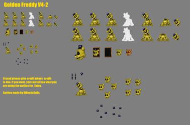 (DMT6) Golden Freddy Spritesheet by DMechatails