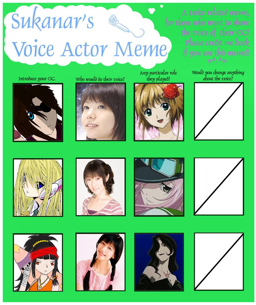 Voice Actor Meme By Zweenii On DeviantArt