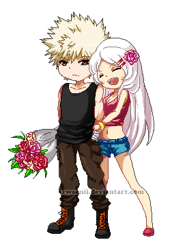 BnHA OC: V-Day Pixel by Zweenii