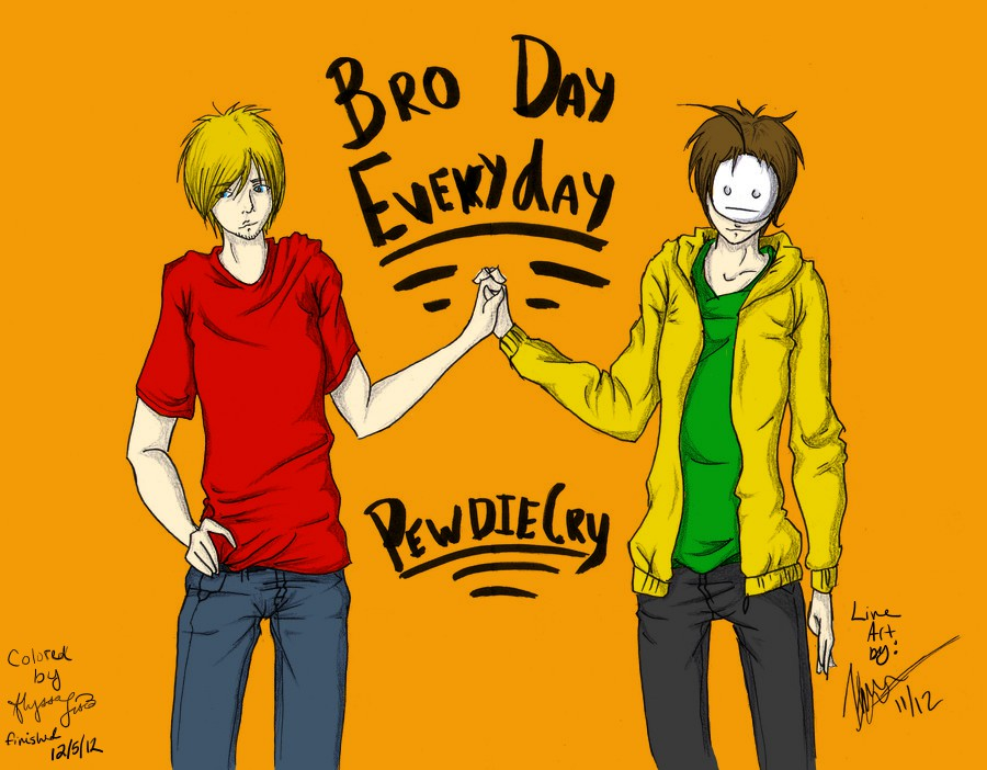 Bro Day Everyday (colored) by madelinewilliams1195