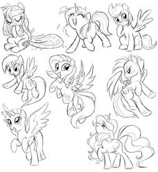 Pony Sketch Dump
