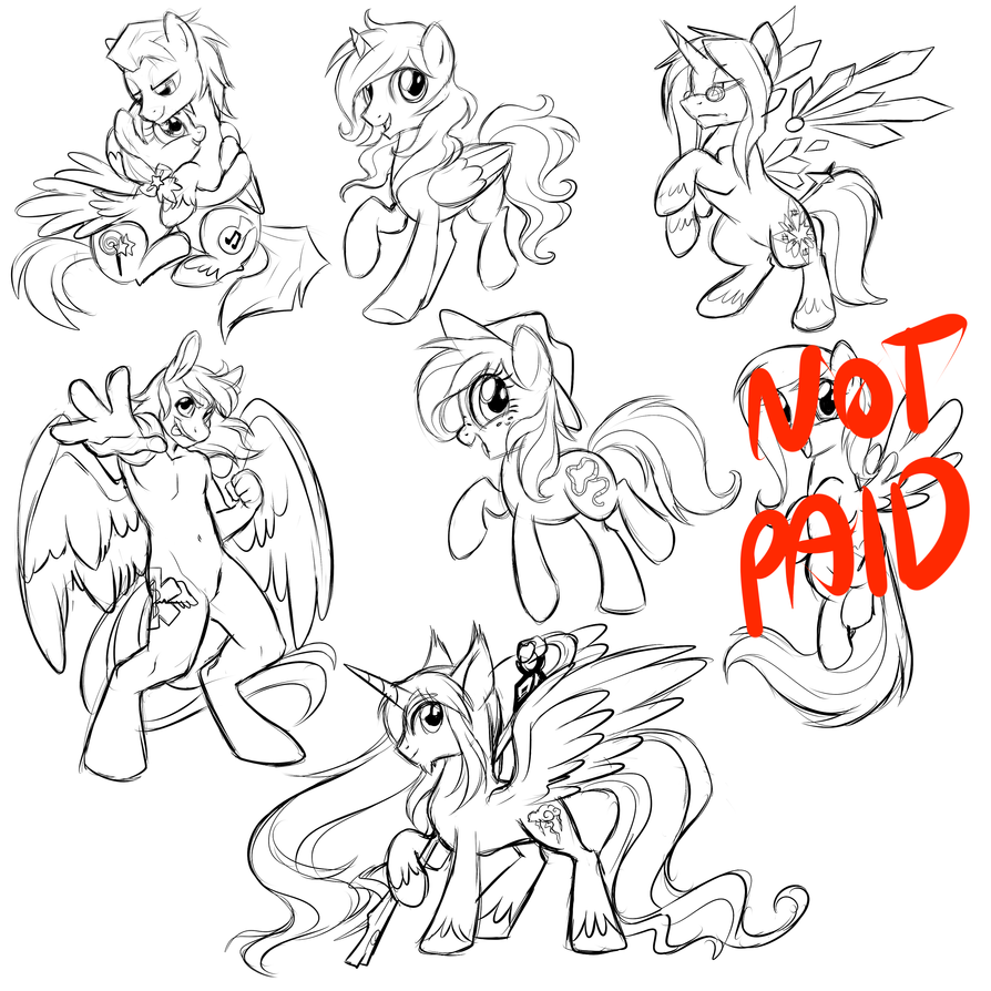 Pony Sketch Dump 2 by Centchi