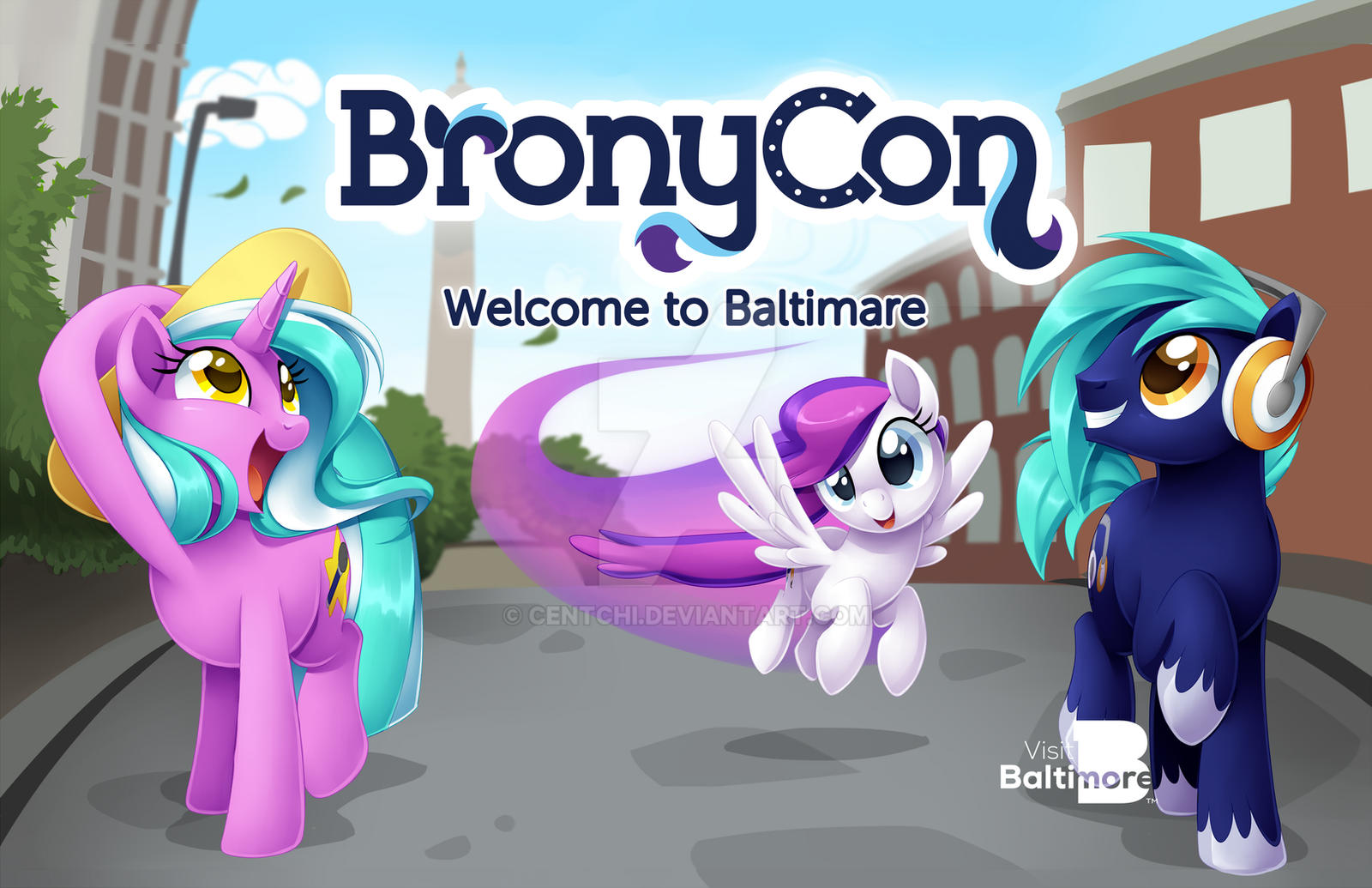 BronyCon 2014 - Welcome To Baltimare Poster by Centchi on ...