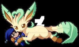 Leafeon Cuddles