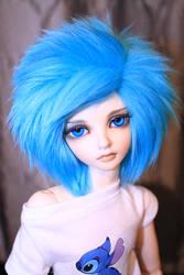 Blue haired freak