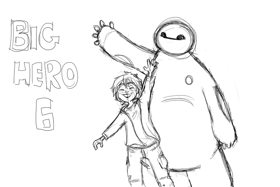 Big Hero 6 Sketch Or Wip Idk By Bibmob On Deviantart