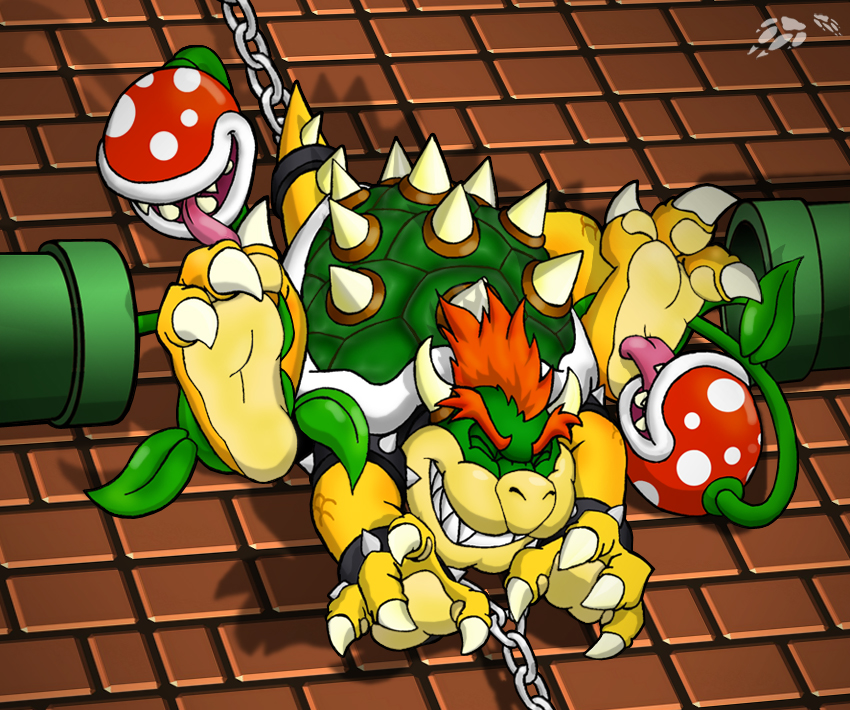 Bowser does NOT want his feet licked? by Foot-paws
