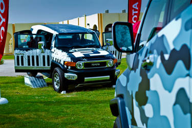 2012 Toyota FJ at UAEU University 2 by JamesDubai