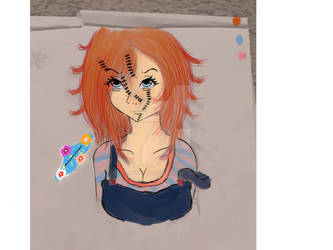 chucky as a girl by natsumiflower