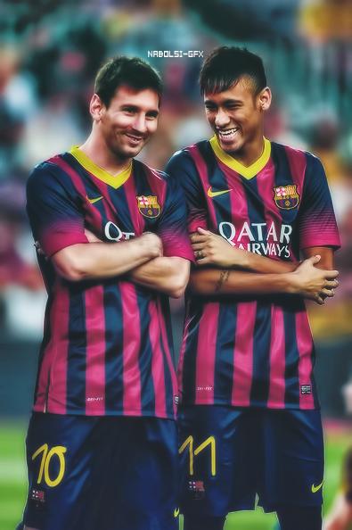 Neymar Y Messi By Nabolsi GFX