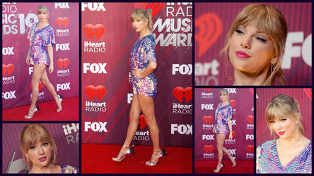 Taylor Swift iheart red carpet collage by Devilfish89