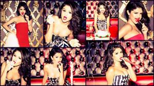 Selena Gomez glamour cake collage