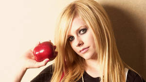 Avril Lavigne apple wallpaper 1080p