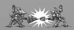 Shovel Knight vs. Knightfall