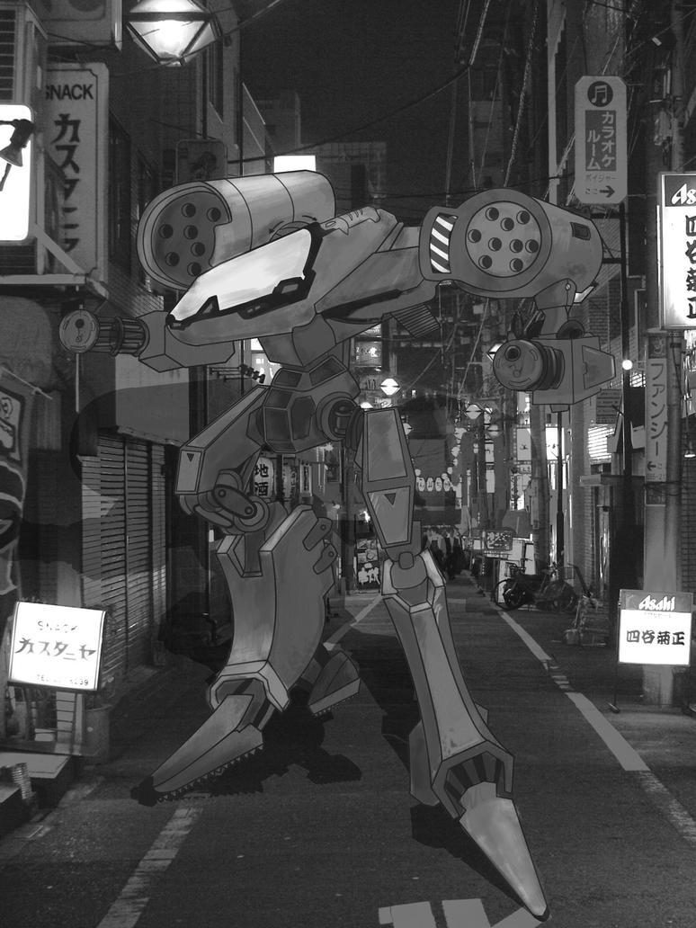 Cyberpunk Character Design Robot by marinalemon