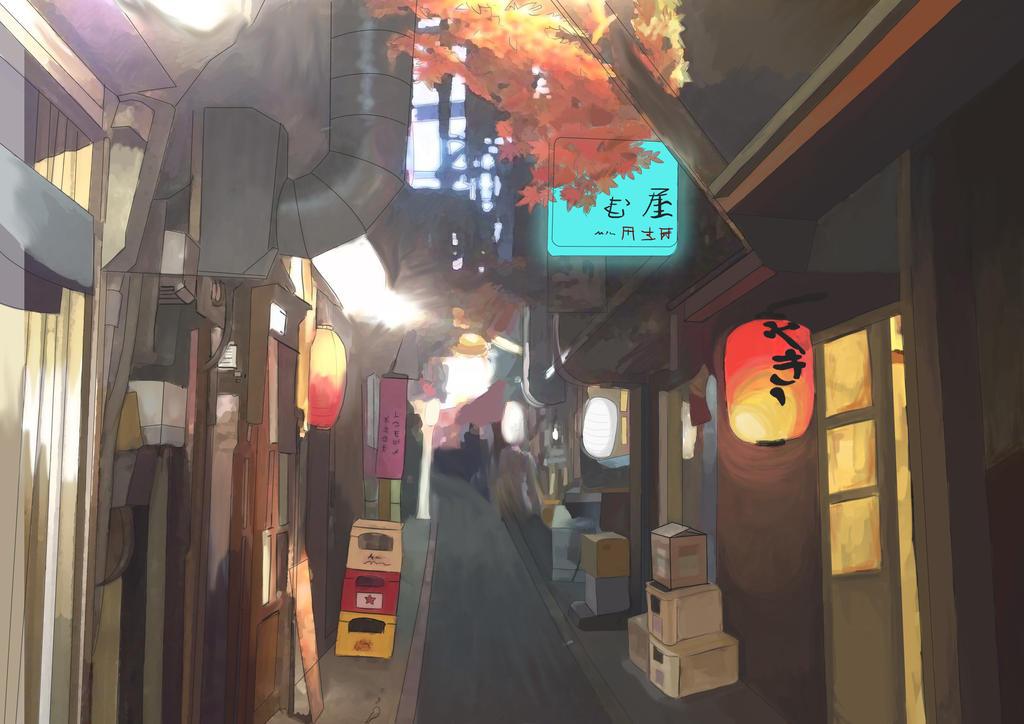 Tokyo scenary design by marinalemon