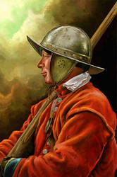 English soldier by KreksofinArt