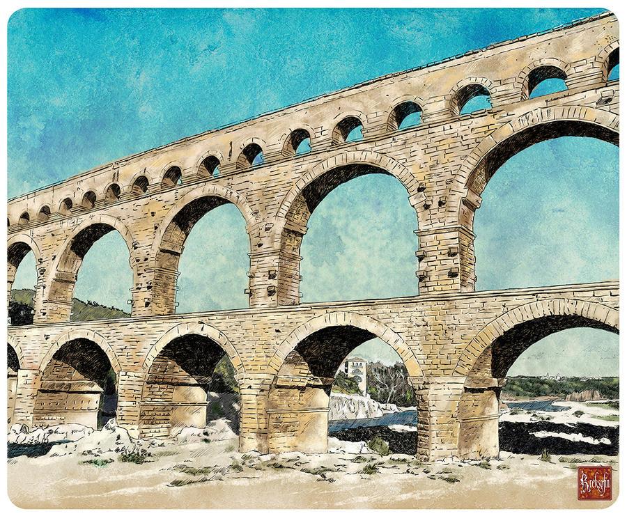 Roman aqueduct by KreksofinArt on DeviantArt