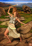Thracian priestess