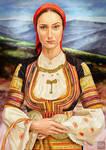 Bulgarian maiden in folk costume by KreksofinArt