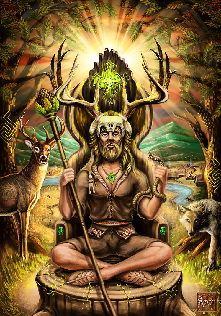 The horned God by KreksofinArt