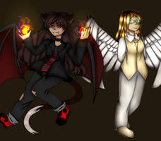 Demon Red And Angel Gold