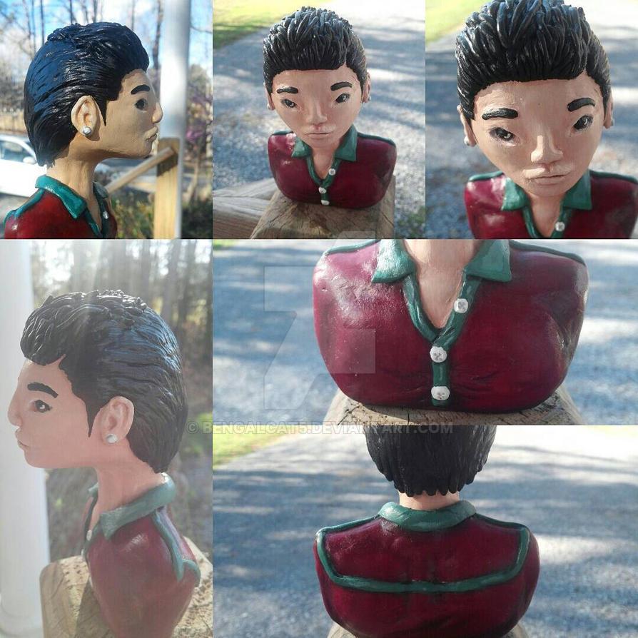 Jang Geun Suk Mini Sculpture Bust by BengalCat5