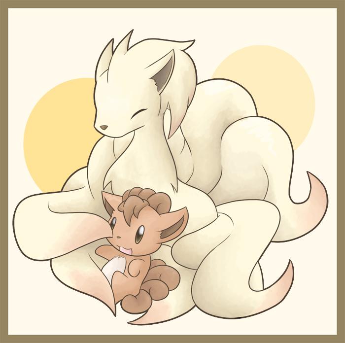 Chibi Ninetales + Vulpix by GogetaJr