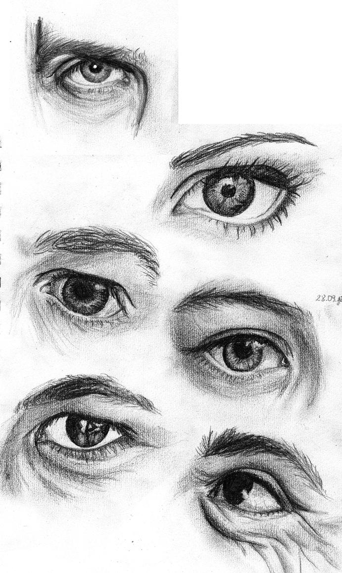 eyes study by black--monkey