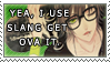 The slang stamp. by Kenny-White-Lion