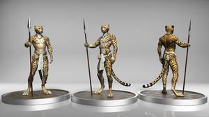 Tribal Cheetah Sculpt by TitusWeiss
