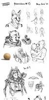 Sketchdump #13 by TitusWeiss