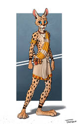 Cartoony Serval by TitusWeiss