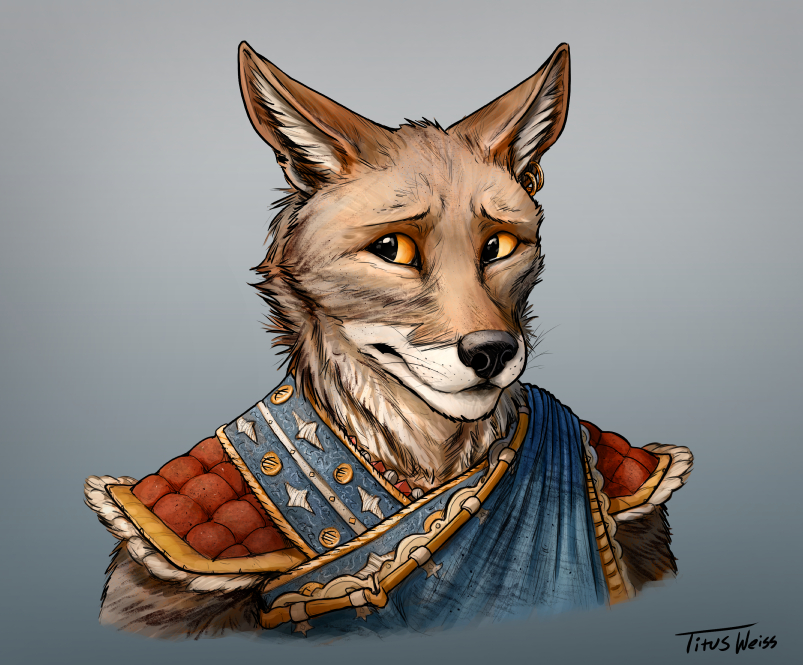 Unnamed Coyote Character by TitusWeiss