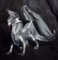 DnD Silver Dragon by kessan