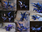 Night Dragon fully poseable dragon doll big