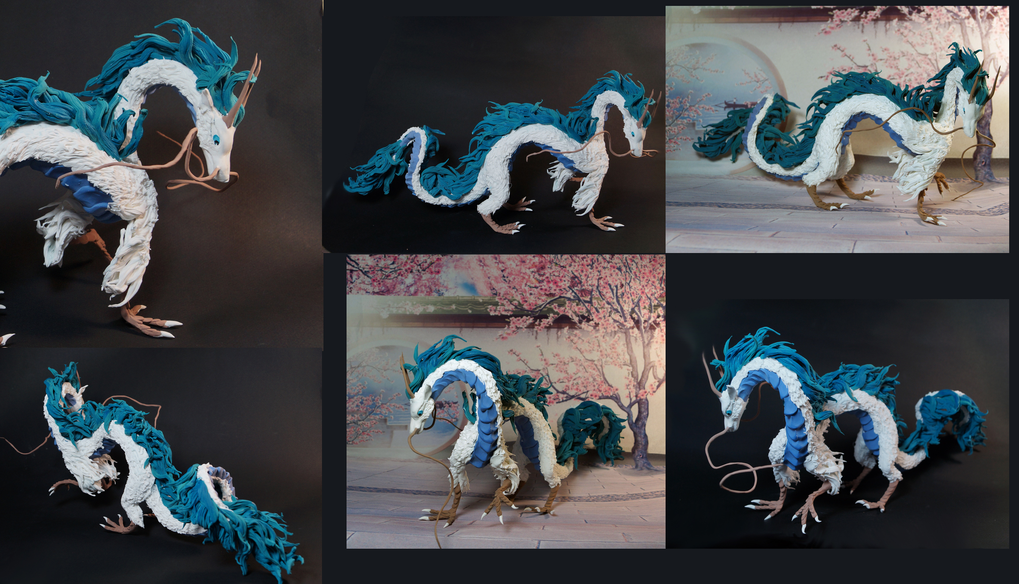 dragon Haku from Spirited away figure by kessan