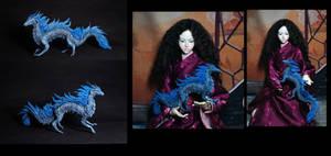 blue elemental dragon figure