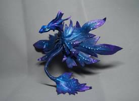 Pandorian leaf dragon  leather sculpture
