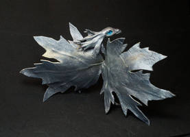 Silver  leaf fairy  Dragon by kessan