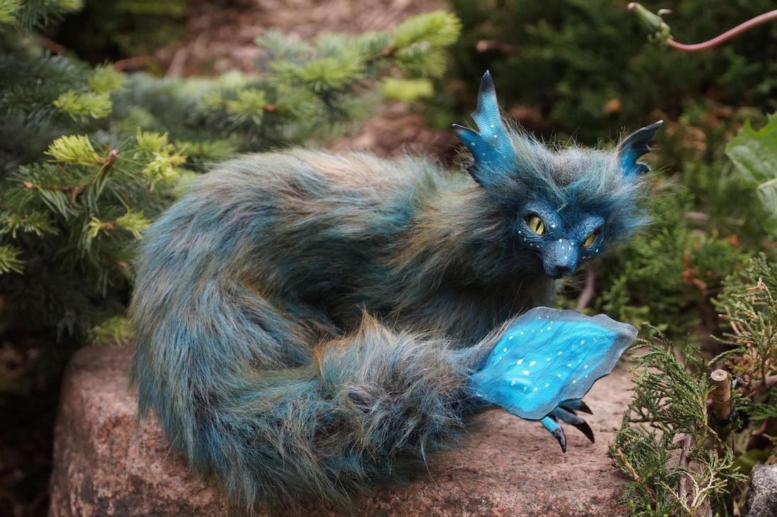 fantasy cat dragon by kessan