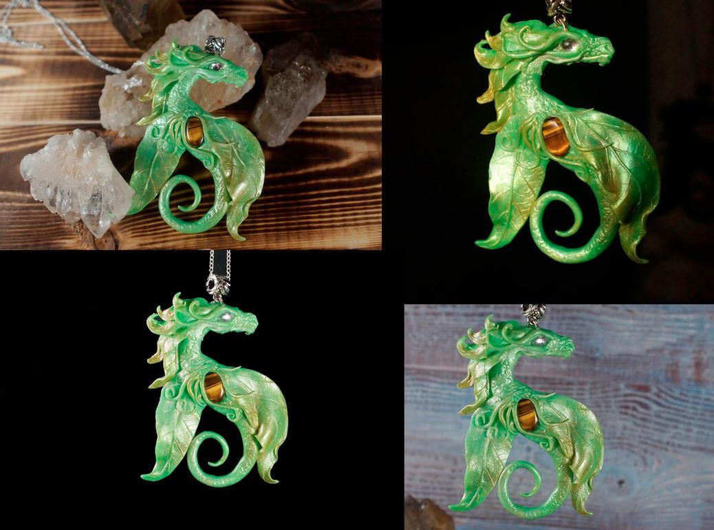 Green elfish pendant by kessan